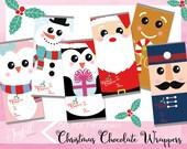 Christmas Chocolate Wrappers Printables