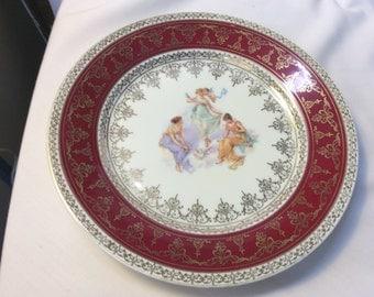 Vintage Victoria Carlsbad Austria Portrait Plate