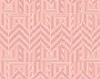 Baby Bedding Crib Bedding - Peach Pink Geometric - Baby Blanket, Crib Sheet, Crib Skirt, Changing Pad Cover, Boppy Cover