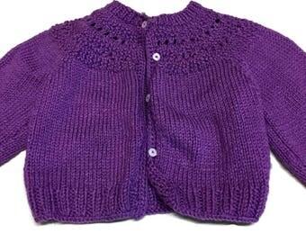 Crochet Baby Sweater - Baby Shower Gift - Crochet Sweater - Knit Baby Sweater - Crochet Baby Clothes - Baby Girl Clothes - Baby girl Sweater