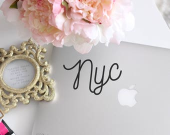 NYC 1 - Laptop Decal - Laptop Sticker - Vinyl Decal - Laptop Stickers - Car Decal - iPad Decal - Vinyl Sticker - Laptop Quote - Stickers