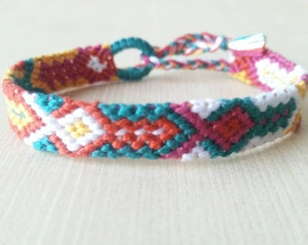 Tribal friendship bracelet, string friendship, southwestern friendship, chevron friendship, arrow friendship, friendship gift