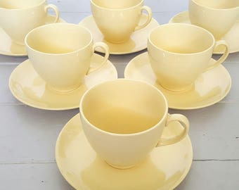 Johnson Tea Cups & Saucers Golden Cloud