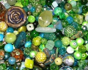 NEW 100/pcs Green's Mixed Jesse James Loose (spacer beads only) Random Mix Bag of different sizes & shapes
