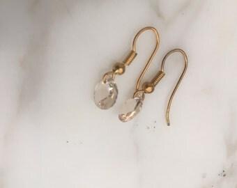 Swarovski Drop Earrings with Gold Wire