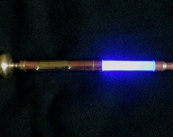 Steampunk Cane Walking Stick LED Light up Cane Copper Brass