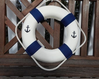 Nautical 15 inch life ring / beach decor / nautical decor