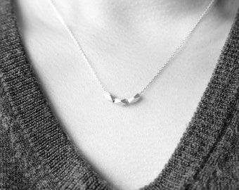 Sterling Silver nuts necklace - minimal