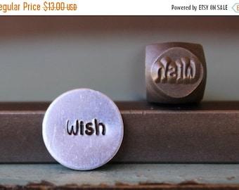 "Spring Sale Brand New 6mm ""Wish"" Word Series Metal Design Stamp - SGCH-95"
