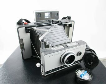 Pristine Polaroid Model 230 Camera With Cold-Clip #193 - Carry Case Full of Extras - Filters - Portrait Kit - Flashbulbs - Manuals, Etc.