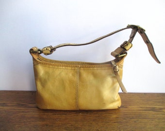 Vintage Coach Tan Leather Bleeker Tattersall Hobo Bag 11415