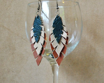 E08 Leather Earrings...FREE SHIPPING in US
