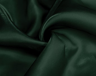Hunter Green Sparkle Satin Fabric By the Yard Style 2908