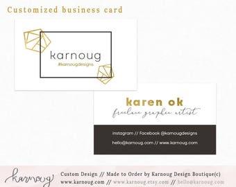 Geometric Business Card|Jewelry Business Card| Minimal Business Card|Instant Business Cards|Custom Business Cards|Printable Business Cards