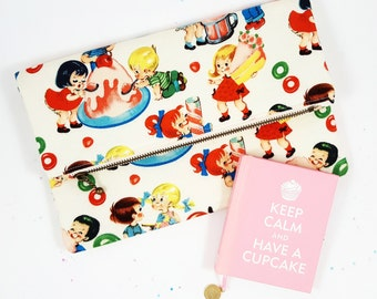 Candy Purse, Foldover Clutch, Clutch Purse, Gift For Her, Birthday Gift, Retro Purse