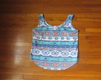 Vintage navajo inspired crop top