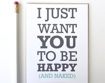 Funny Valentines Day Card. Valentines Day Card. Happy and Naked. Valentine.