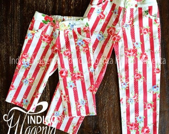 PDF PATTERN Girls 'Ava' Jeans. Size 3-10. Adjustable Waist. Mock Fly. No zip. Instant Download.
