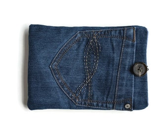 Denim Mini IPAD  Cover, Blue Recycled Tablet Case