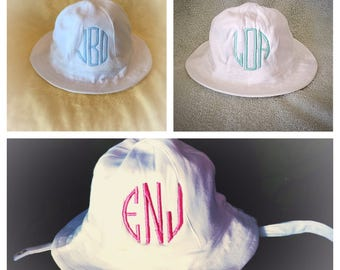 Personalized Baby Sun Hat   NB-12 Month