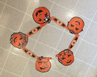 Halloween Pumpkin/Jack-O-Lantern Banner, Orange and Black