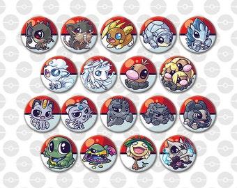 Alola pokemon buttons 38mm