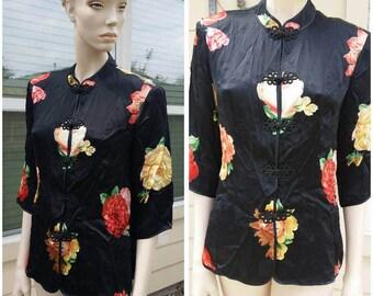 Vintage silk Asian blouse by Yinxing