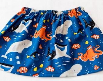 4T Toddler Skirt - Finding Dory