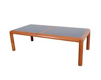 D Scan Flip-Top Danish Modern Teak Coffee Table