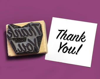 Thank You! Rubber Stamp