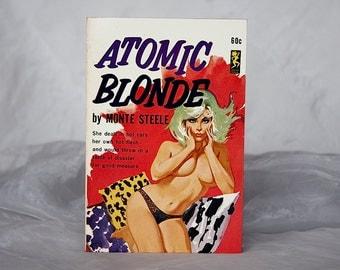 Atomic Blonde - Vintage Pulp Fiction - Atomic Decor - GGA Cover - Good Girl Art Cover - Sleazy Pulp Fiction - Man Cave Gift - Man Cave Decor