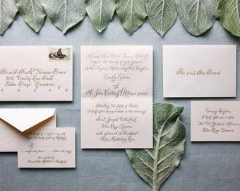 Traditional Wedding Invitation Suite