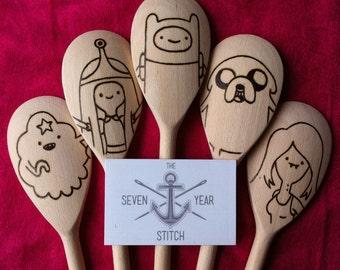 Adventure Time 5 Piece Wooden Utensil Set