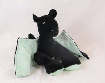 Black and Mint Dragon