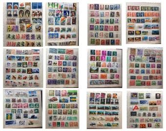 Postage Stamp Lot an Album of Australian Vintage Stamps and World  Stamps | Beginner old Stamps Collection