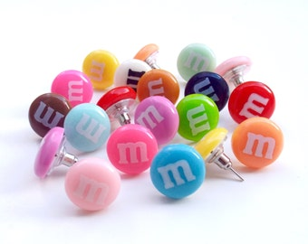 Candy Earrings Kawaii Kids accessories Children's jewelry Costume studs available in 15 colors Made extra strong and durable