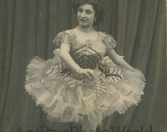 Beautiful ballet dancer Rossini in costume antique dance photo pc
