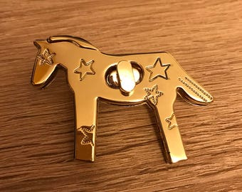 10 pieces of beautiful Horse Light gold approx 65mm x 48mm hardware for handbag and purses and accessories