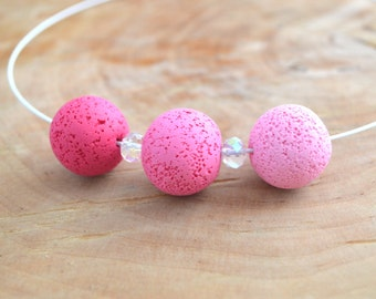 Polymer clay necklace/ Polymer clay jewelry/ Polymer jewlery/ Polymer clay beads/ Pink necklace, Mothers day gift, Necklace for woman