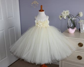Ivory Hydrangea Tutu Dress