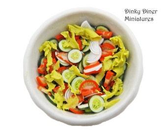 Bowl of Salad - Miniature 1:12 Scale Food