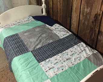 Reg liquidation. 249.95 collection ready to ship ' Teepees, zig zag Navy gray xetvv, wired green turquoise, Navy minky