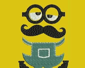 Mustache you a minion Machine Embroidery Designs - Cartoon Embroidery Design 38