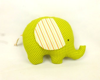 Keep sake baby toy, personalised elephant soft toy, elephant plush, ideal gift for new baby or baby shower. cotton soft toy made in UK