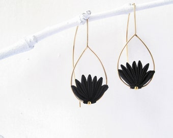 Origami Earrings, Gold Filled Earrings. Dangle Earring, Drop Earrings.