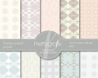80% OFF SALE Powder pastel digital paper, commercial use, scrapbook papers, background - PS507