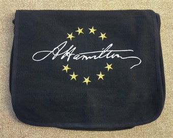 Hamilton Signature Embroidered Messenger Bag