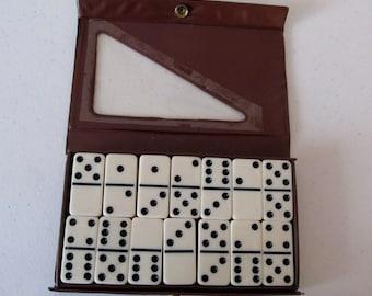 Vintage Milton Bradley, Double Six Dominos, Dominoes, 1975, Bakelite