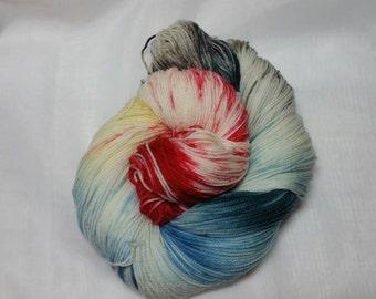 Winter Rose DAL Hand Dyed Superwash Merino Sock Yarn