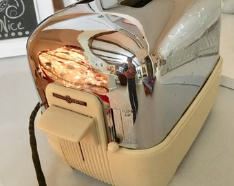 General Electric Toaster Chrome and Bakelite
